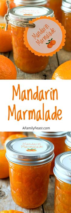 Mandarin Marmalade - Fresh mandarin oranges with a hint of lemon. This marmalade is fantastic! Includes a link to a free printable for labels or gift tags.