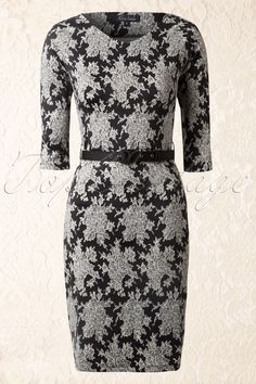 King Louie - 50s Thelma 3/4 Sleeve Dress Lumiere in Black