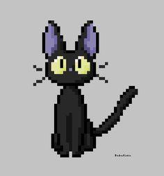 Jiji pixel by BabanIllustration on DeviantArt Cool Pixel Art, Pixel Art Grid, Anime Pixel Art, Pixel Pattern, Pattern Art, Pixel Characters, 8 Bit Art, Pix Art, Pixel Art Games