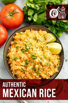 This Authentic Mexican Rice is super easy to make and goes perfectly with any Mexican meal! This recipe couldn't be more simple. Make this tasty side dish for your Cinco de Mayo celebration! #mexicanrice