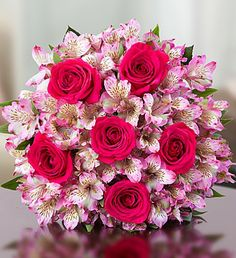 True Love Rose and Peruvian Lily Bouquet - Bouquet Only $ 39.99