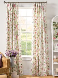 Cottage Curtains, Shabby Chic Curtains, Green Curtains, Floral Curtains, Country Curtains, Colorful Curtains, Blush Curtains, Floral Pillows, Rod Pocket Curtains