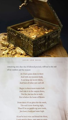 Treasure hunting Forrest Fenn's Poem Gold and Treasure Hunting, Treasure Maps, Forrest Fenn Treasure, Entertaining Movies, Urban Legends, Random Facts, Heart Sign, Folklore, Poem