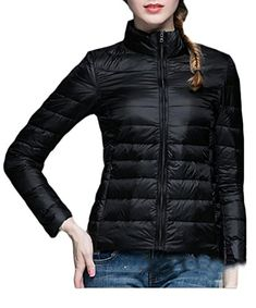 ARRIVE GUIDE Womens Lightweight Packable Down Puffer Coat Winter Jacket Black M >>> Learn more by visiting the image link. (This is an affiliate link)