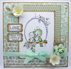 Sylvia Zet: Bird Swing by Hazel Conboy and TV news! Whimsy Stamps, Digi Stamps, Hobby House, Engagement Cards, Scrapbooking, Beautiful Handmade Cards, Mothers Day Cards, Cute Cards, Pretty Cards