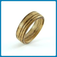 Zebrawood Wooden Ring - Wedding and engagement rings (*Amazon Partner-Link)