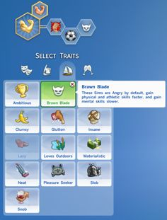** STATUS tested - by zerbu - BRAWN BLADE Trait : These Sims are Angry by…