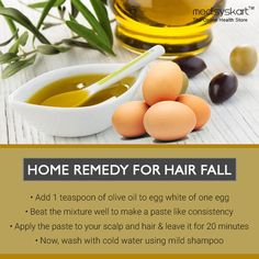 Easy home remedies to control hair fall. #Medisys #FitTips for #HairFall