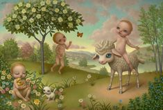 By Marion Peck.. I thought this was painted by  a legendary artist, Mark Ryden. Now I know they are living together somewhere around CA.