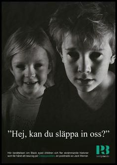 POSTER | P3 Sweden | Creepypodden - Black eyed children