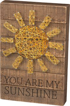 You Are My Sunshine - String Art Plank Board Box Sign - 12-in
