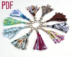 Trend alert! Tassels are all the rage. Get in on the action with your own one of a kind creations. They make great key chains or zipper pulls. This