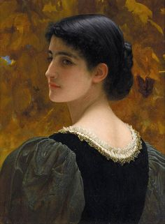 HI RES  Charles Edward Perugini [Italian-born English painter of the Victorian era, 1839 – 1918]  Son-in-law to Charles Dickens. Biography: en.wikipedia.org/wiki/Charles_Edward_Perugini  17 x 13 14'' oil on canvas