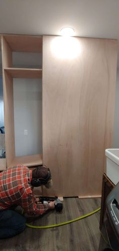 Need extra storage for all of your things? Check out this guide filled with all the details on how to build these mudroom lockers with doors! #mudroom #storge #DIY Porch Curtains, Outdoor Curtains, Mdf Trim, Diy Plate Rack, Mudroom Cabinets, Childrens Desk, Wood Mosaic, Modern Planters, Diy Barn Door