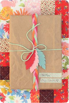 Braided gift wrap.