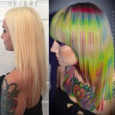 Fragment Hair Color before and after