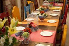 Para Falar de Casamento: Casamento em restaurante ♥ Mini-wedding colorido