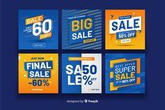 Promotion square banner collectio Free V. Web Design, Design Plat, Web Banner Design, Social Media Design, Promotional Banners, Promotional Design, Price Tag Design, Instagram Banner, Instagram Post Template