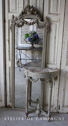#23/190 Mirror & Console Louis XVI