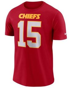 buy popular 0006e a9059 Nike Men s Pat Mahomes Kansas City Chiefs Pride Name and Number Wordmark  T-Shirt - Red S