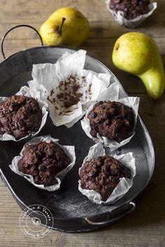 muffin cioccolato pere e zenzero al farro integraleok