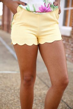 take me to the riptide shorts - yellow