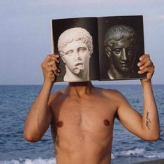 'Cutting off the nose to spite the face - Self-portrait, Cosenza, by Laurence James Tooley ( Vaporwave, Art Inspo, Lise Sarfati, Jandy Nelson, The Wombats, Heroes Of Olympus, Greek Gods, The Villain, Percy Jackson