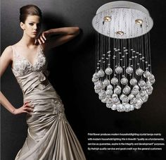 Luxury Modern Chandelier Design K9 Crystal Light Pendant Lamp with 35W LED GU10 Bulbs LED Ceiling Light Globe Dandelion Shape Lamps Online with $176.28/Piece on Ok360's Store | DHgate.com