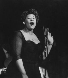 Ella Fitzgerald photographed by Allan Grant for Life magazine, 1958.