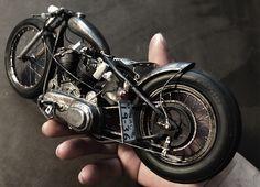 Chopper Motorcycle, Bobber Chopper, Motorcycle Garage, Motorcycle Art, Vintage Motorcycles, Custom Motorcycles, Custom Bikes, Miniatur Motor, Motos Bobber