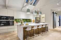 Property Report for 14 Irymple Avenue, Kew East VIC 3102 Kitchen Island Bench, Kitchen Benches, Kitchen Island Lighting, Kitchen Pendant Lighting, Kitchen Pendants, Kitchen Reno, Kitchen Dining, Kitchen Ideas, Smart Kitchen