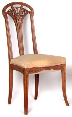 LOUIS MAJORELLE side chair, c. 1900, from the clematis furniture suite.