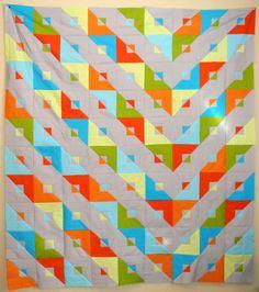 Modern quilt take on transformer pattern