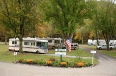 Camping In The Smokies - Along a mountain stream and adjacent to the National Park offering Full hook-ups.