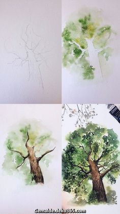 What is Your Painting Style? How do you find your own painting style? What is your painting style? Watercolour Tutorials, Watercolor Techniques, Drawing Tutorials, Drawing Techniques, Drawing Ideas, Painting Tips, Painting & Drawing, Tree Painting Easy, Painting Pictures