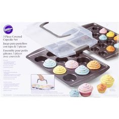 Wilton 21050121 3Piece Nonstick Covered Cupcake Set *** Check out this great product.
