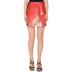 Markus Lupfer Mini Skirt ($240) ❤ liked on Polyvore featuring skirts, mini skirts, fuchsia, sequin mini skirt, red sequin mini skirt, zipper mini skirt, sequin embellished mini skirt and short skirts