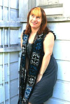 2 strands tweed granny squares crochet scarf fashion
