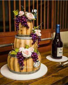 Wine Barrel Themed Wedding Grooms Cake!!! (Sometimes allow the Groom Steal the Show)   BEAUTIFUL Sculpted Design via @cakelava #Cakebakeoffng #CboCakes #InstaLove #LikeforLike #AmazingCake #CakeInspiration