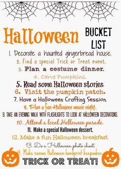 For more Halloween inspiration, visit our Seasonal tab at the top of our page or follow our Pinterest boards for our latest pins! Less than two weeks until Halloween & today we are sharing some fun ideas for your family to do as you count down towards Halloween.  Print off the Halloween Bucket List below & check off the …