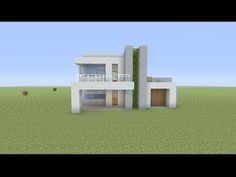 How to Build a Small Modern House in Minecraft - YouTube