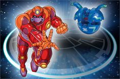 Robotallion (Japanese version'Garrison' (ガリソン Garison)) is an advanced robot-like Bakugan...