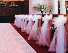 church aisle decoration Amy! We did this for a friends wedding ... easy and pretty.