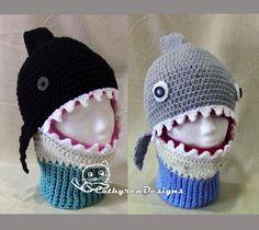Whale and Shark Ski Hats