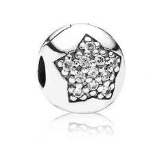 OFFERT 27/10/14 - Clip argent étoile zirconium cubique, deco design