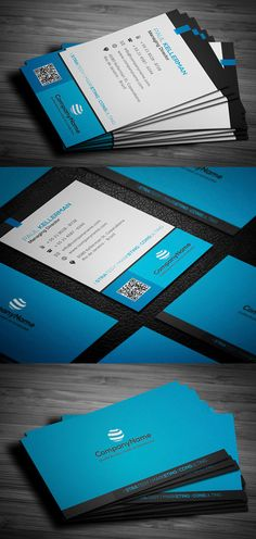 Blue Corporate Business Card #businesscards #psdtemplates #corporatedesign #businesscarddesign