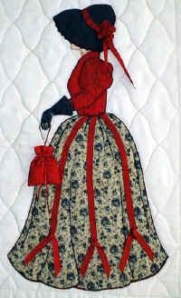 Lindsay en su vestido rojo de la ciudad