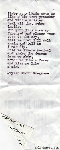 love and affection by all its kindness -   Typewriter Series #111 by Tyler Knott Gregson