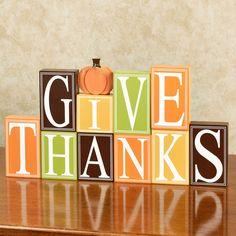 Give Thanks Block Set Multi Warm 10 Piece Set