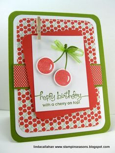 I like the layout on this one - colors are cute too... coral and olive